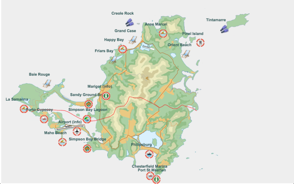 Map St Martin
